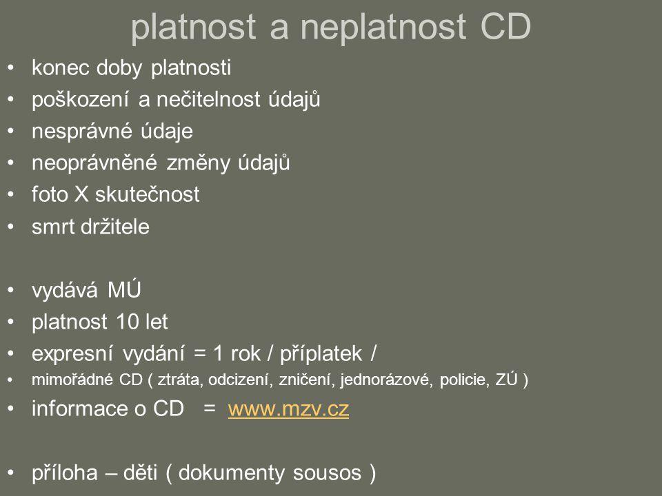 platnost a neplatnost CD