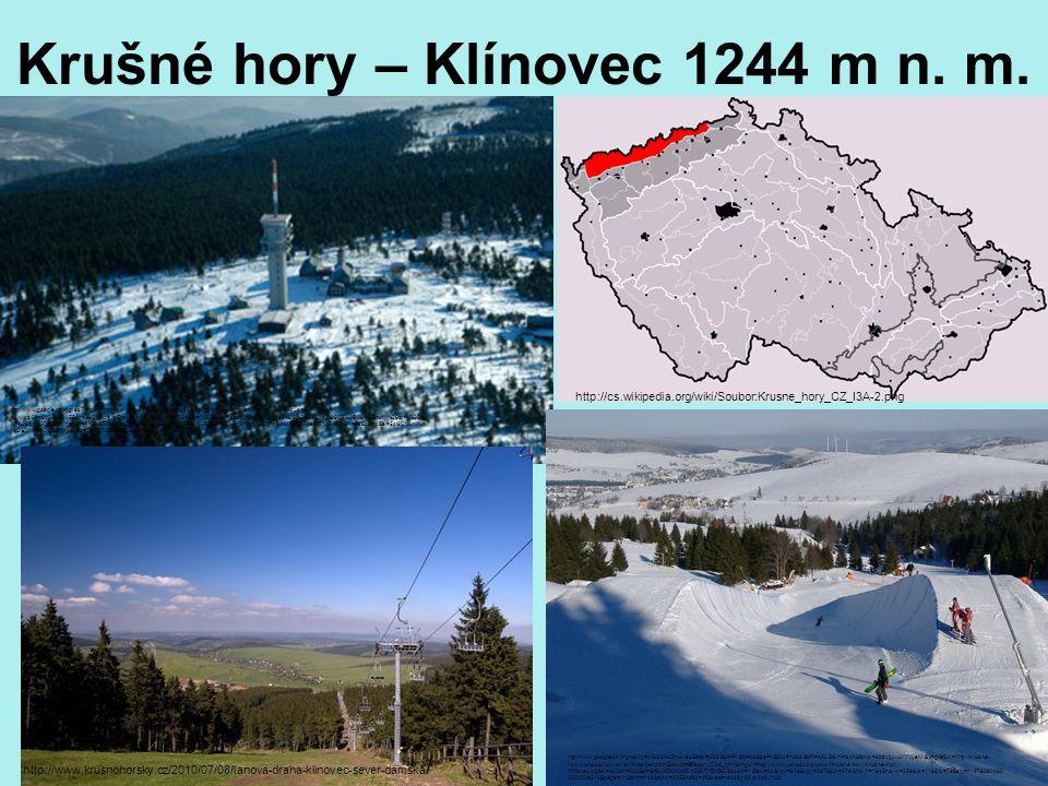 Krušné hory – Klínovec 1244 m n. m.