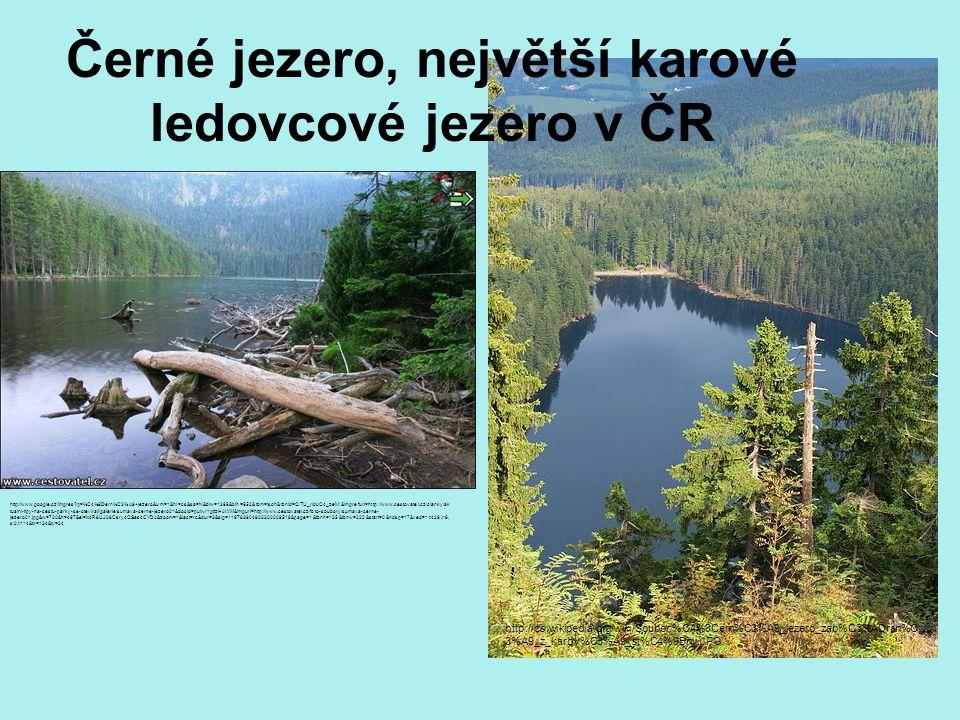 Černé jezero, největší karové ledovcové jezero v ČR