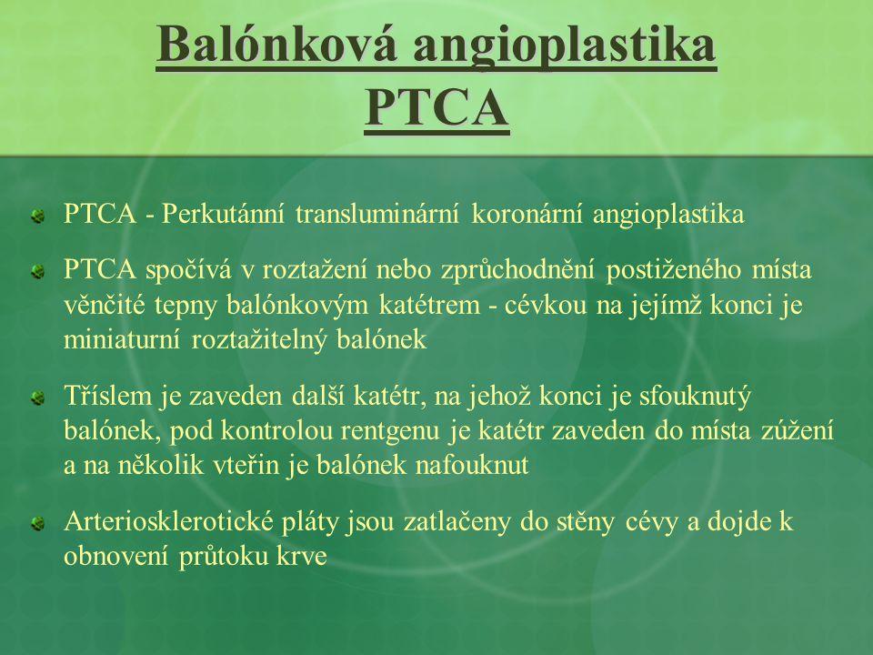 Balónková angioplastika PTCA