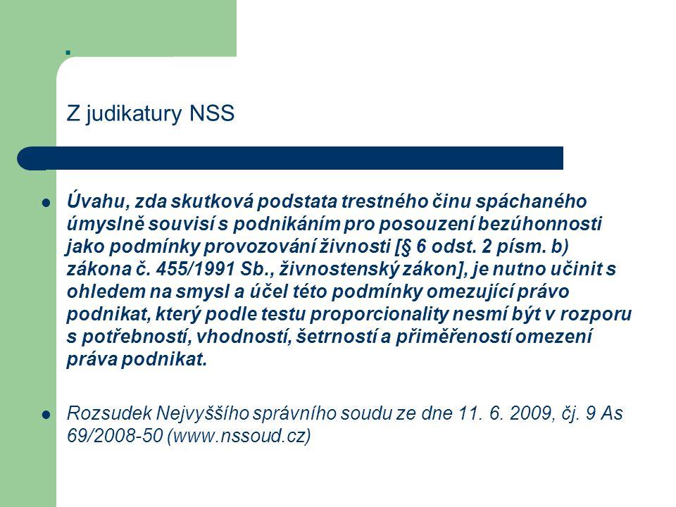 Z judikatury NSS