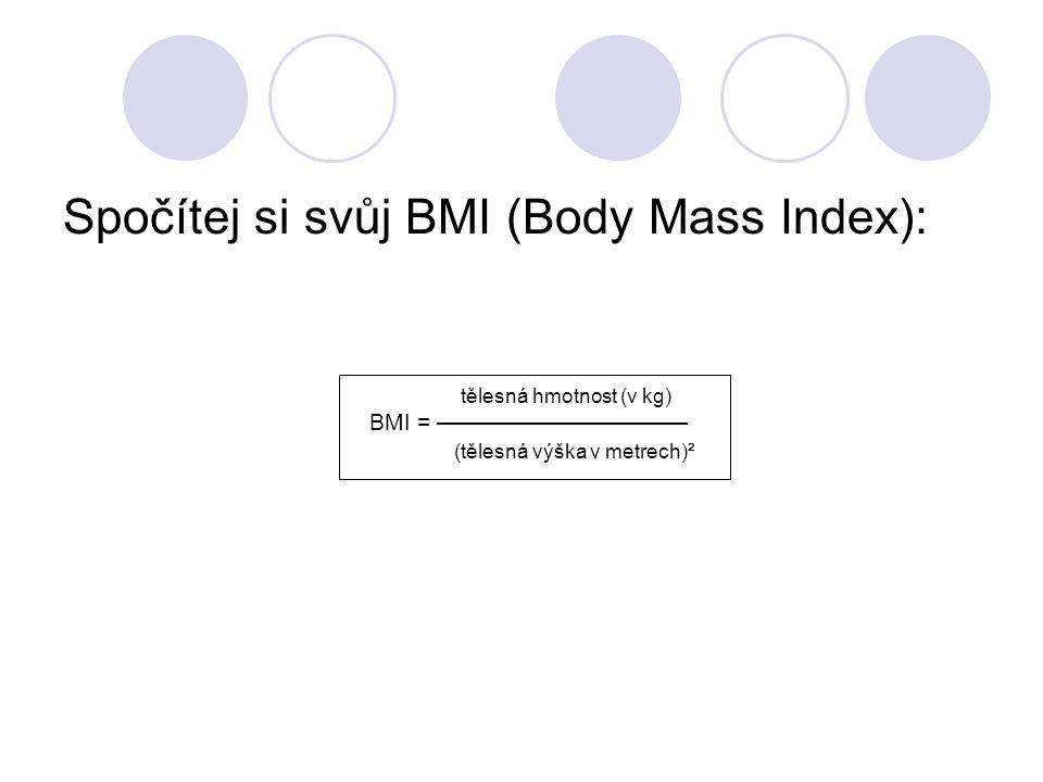 Spočítej si svůj BMI (Body Mass Index):