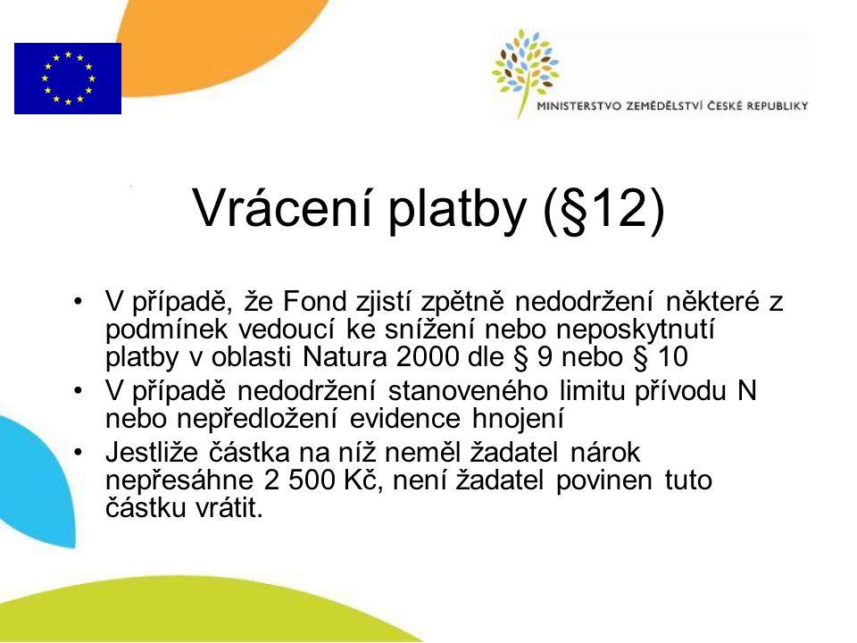 Vrácení platby (§12)