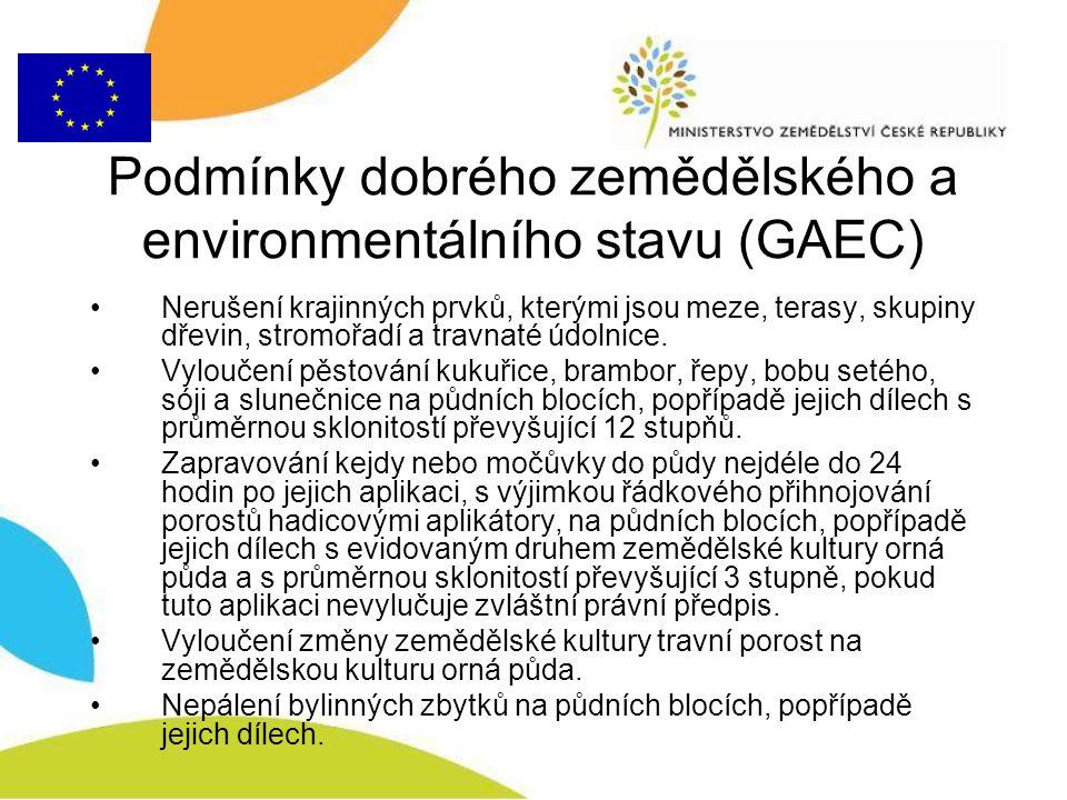 Podmínky dobrého zemědělského a environmentálního stavu (GAEC)