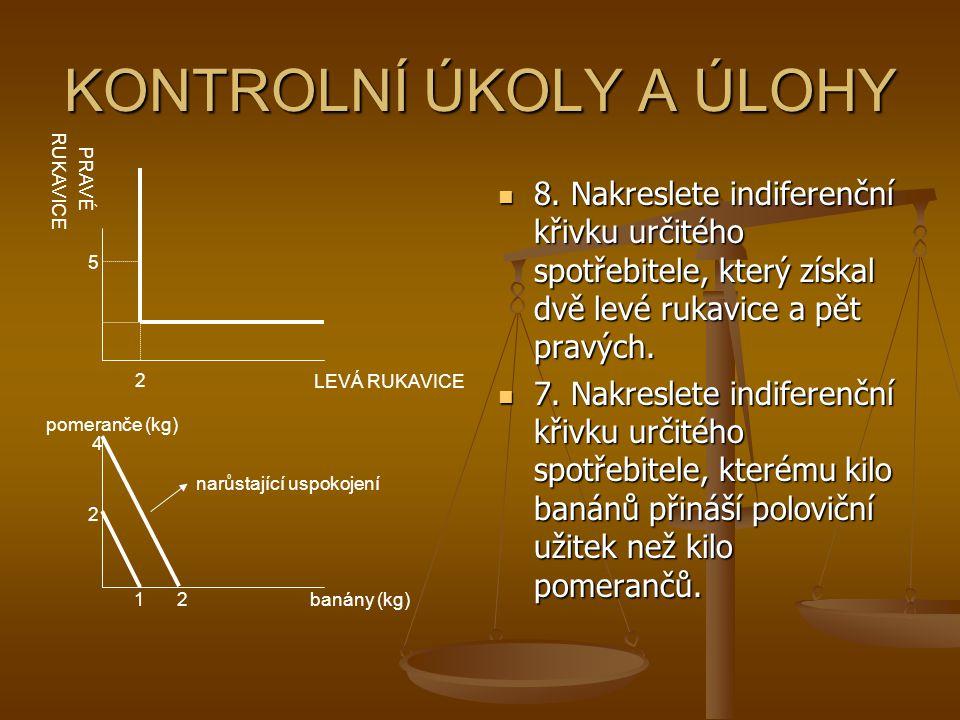 KONTROLNÍ ÚKOLY A ÚLOHY