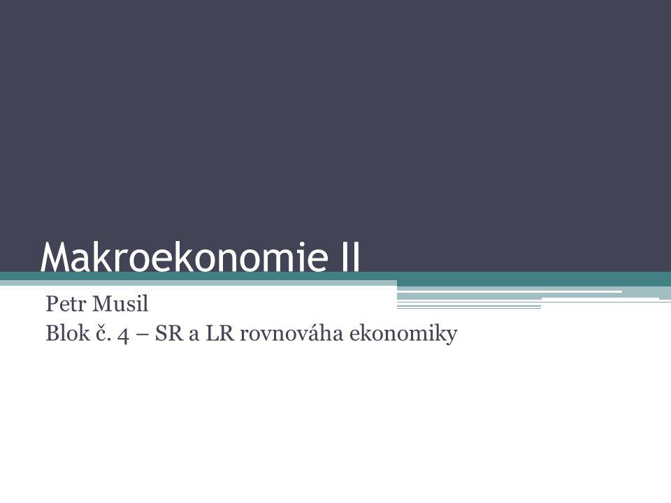 Petr Musil Blok č. 4 – SR a LR rovnováha ekonomiky