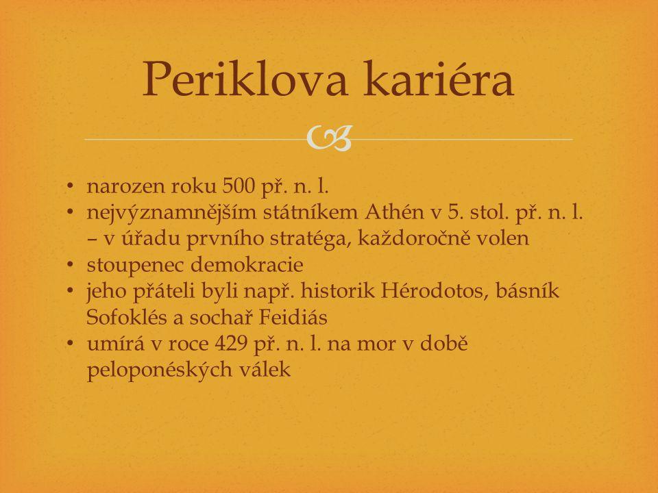 Periklova kariéra narozen roku 500 př. n. l.