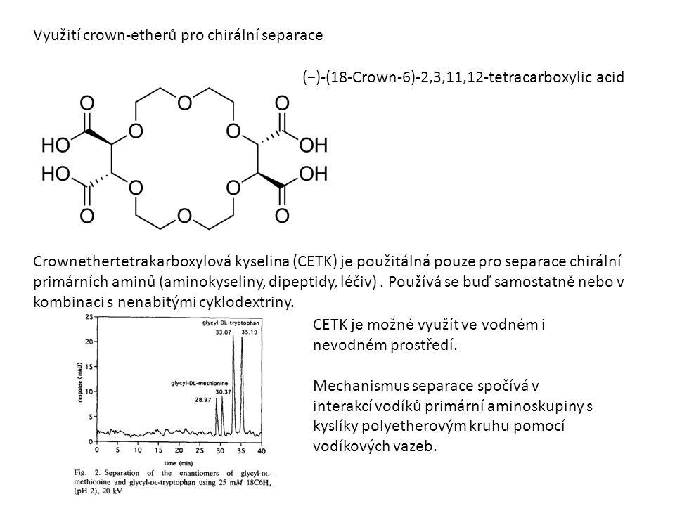 Využití crown-etherů pro chirální separace