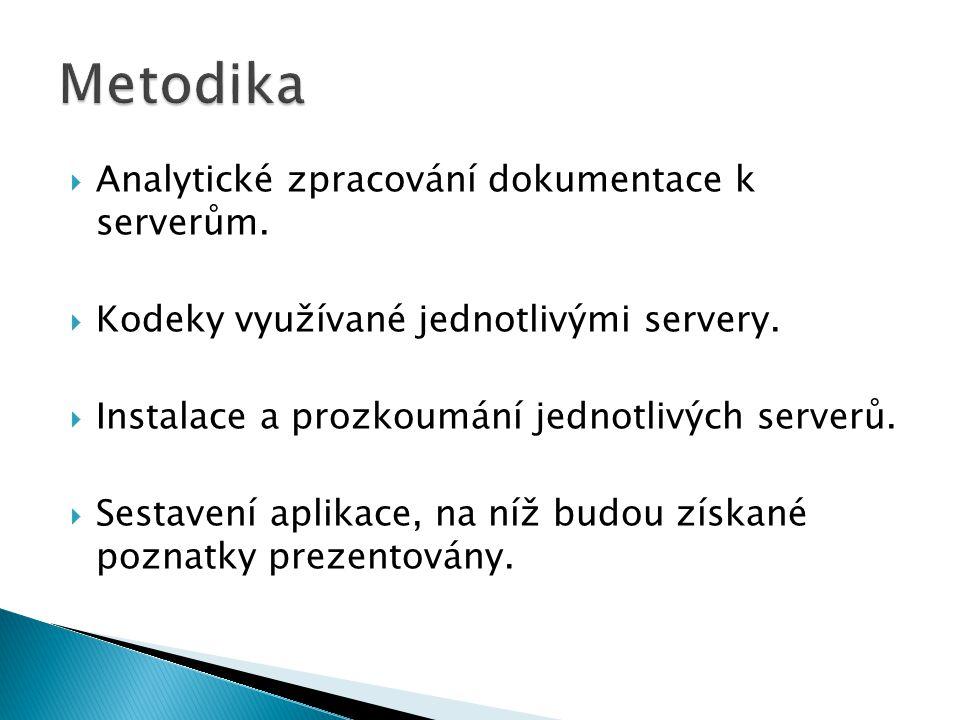 Metodika Analytické zpracování dokumentace k serverům.