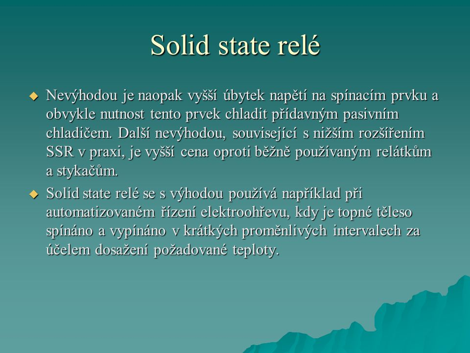 Solid state relé