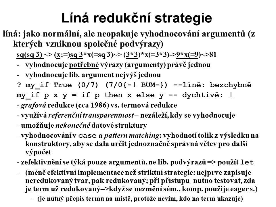 Líná redukční strategie