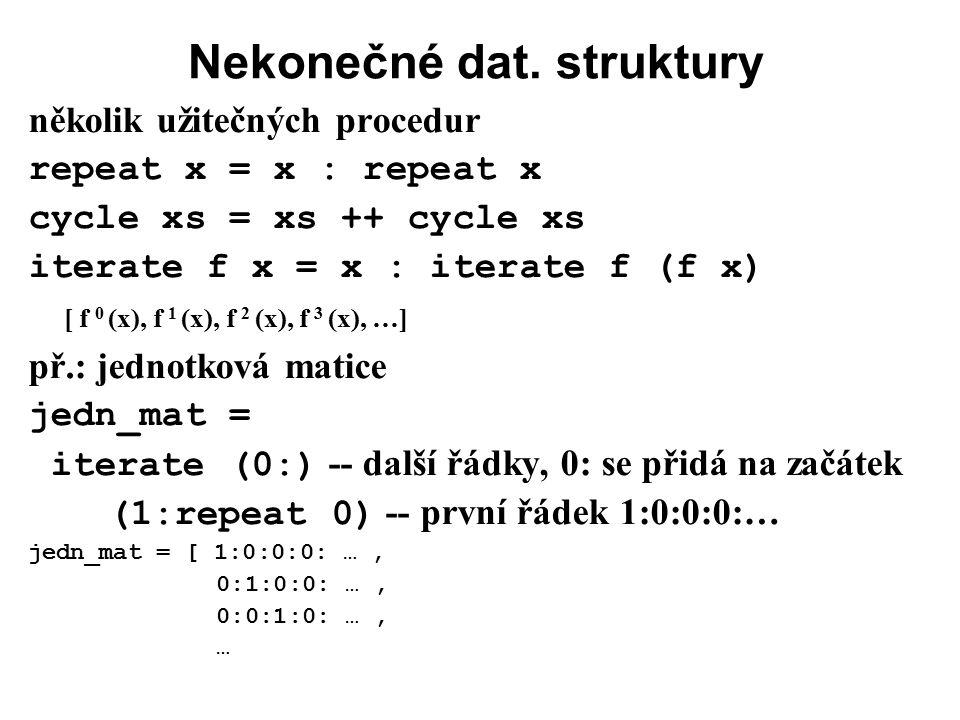 Nekonečné dat. struktury