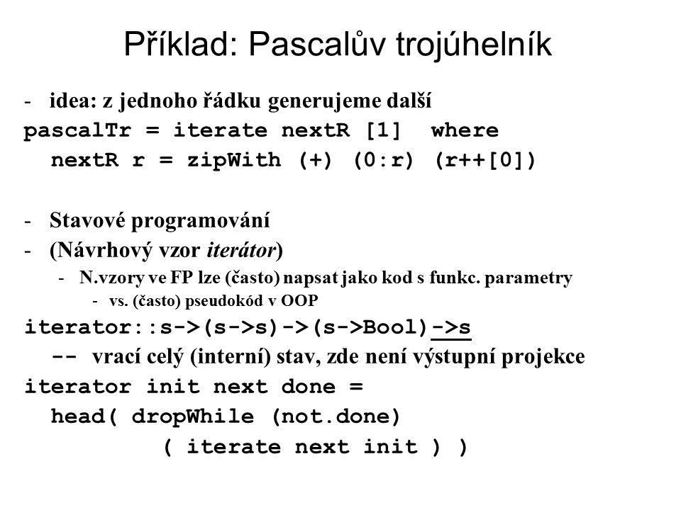 Příklad: Pascalův trojúhelník