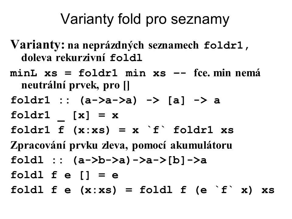 Varianty fold pro seznamy