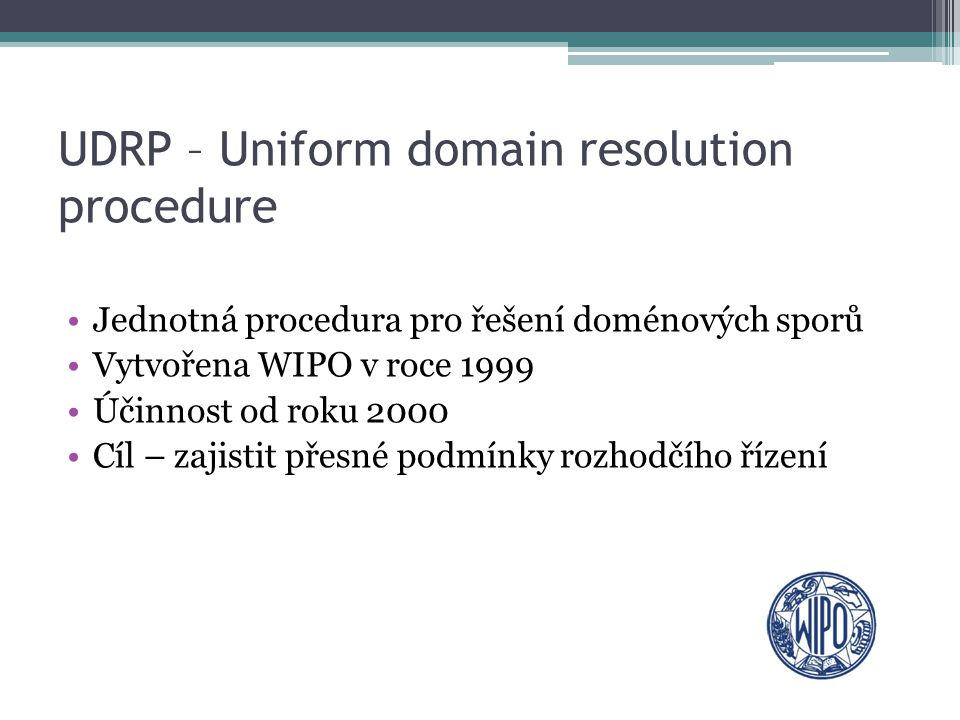 UDRP – Uniform domain resolution procedure