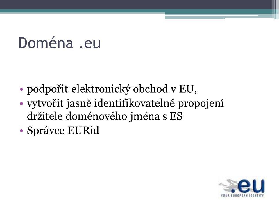 Doména .eu podpořit elektronický obchod v EU,