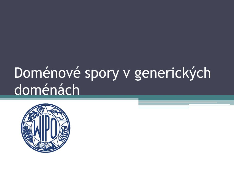 Doménové spory v generických doménách