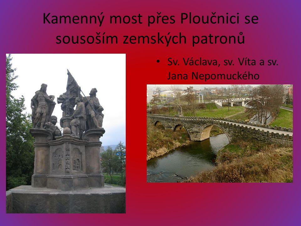 Kamenný most přes Ploučnici se sousoším zemských patronů