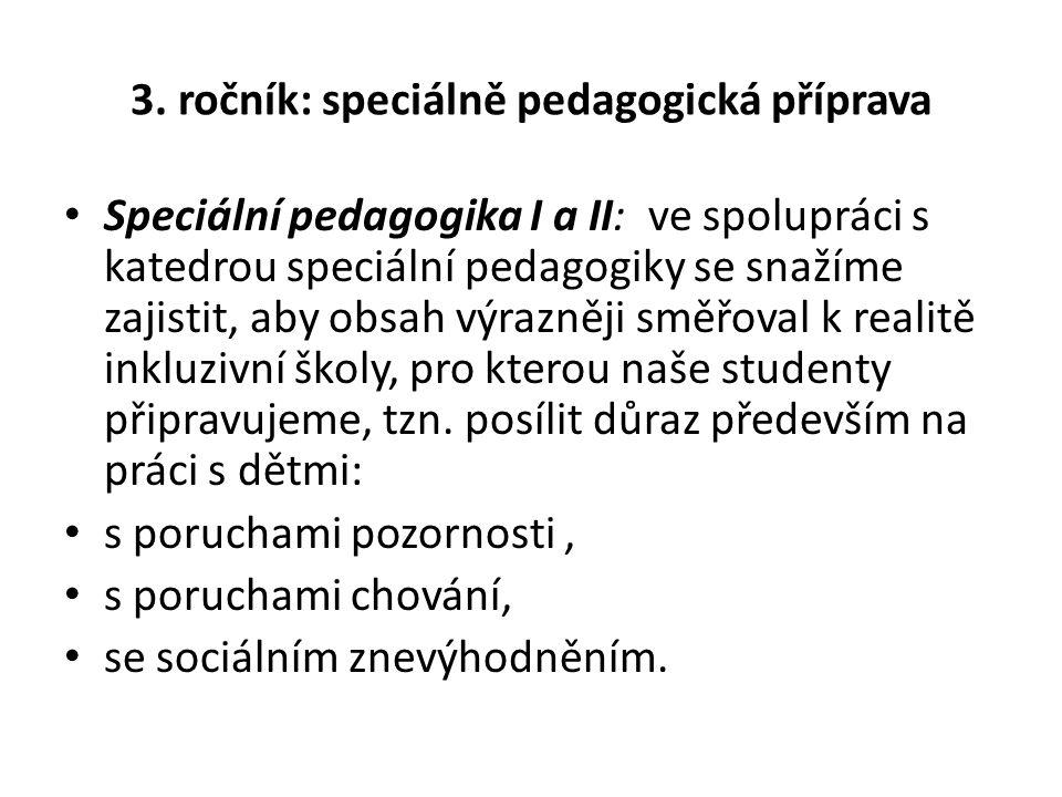 3. ročník: speciálně pedagogická příprava