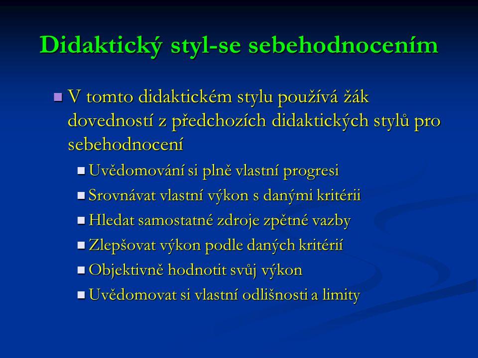 Didaktický styl-se sebehodnocením