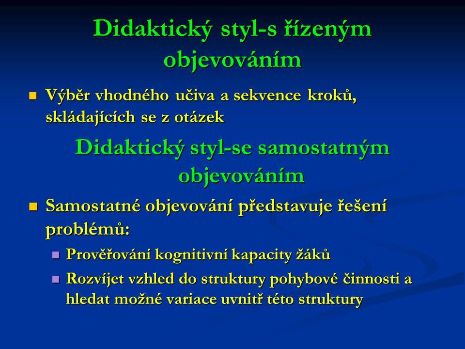 Didaktický styl-s řízeným objevováním