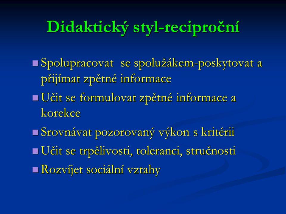 Didaktický styl-reciproční