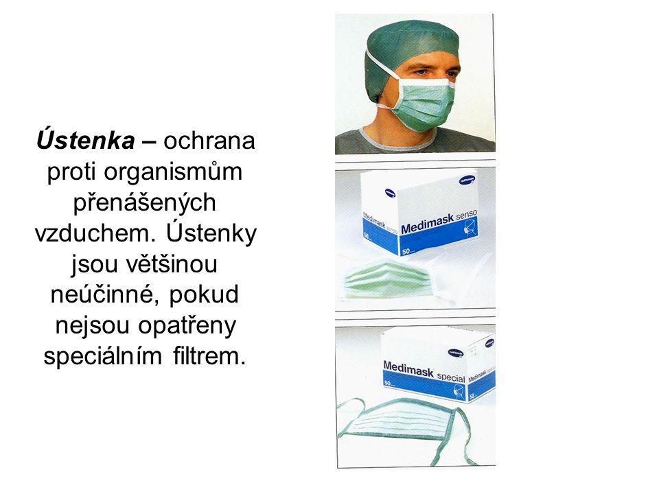Ústenka – ochrana proti organismům přenášených vzduchem