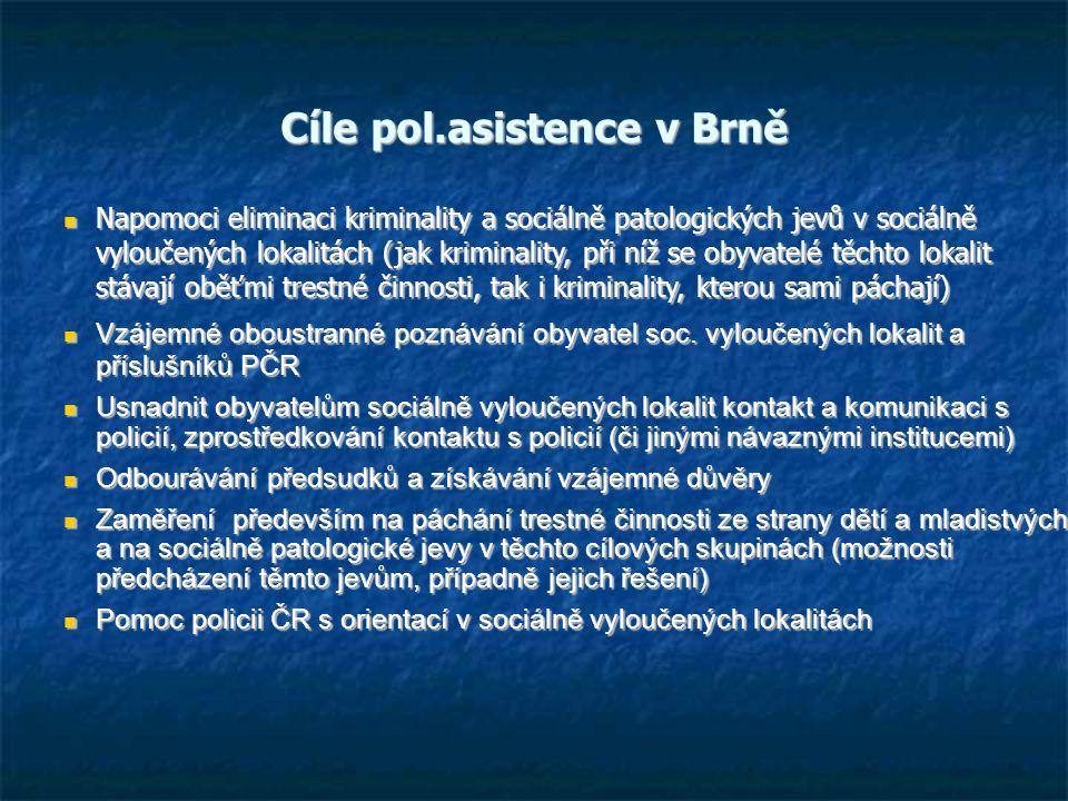 Cíle pol.asistence v Brně