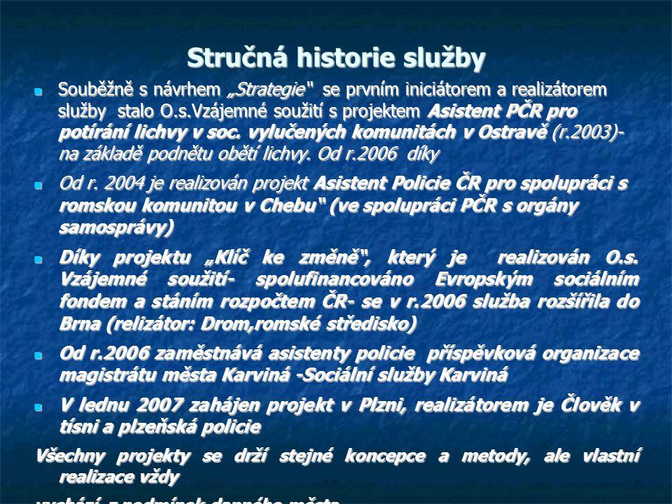 Stručná historie služby