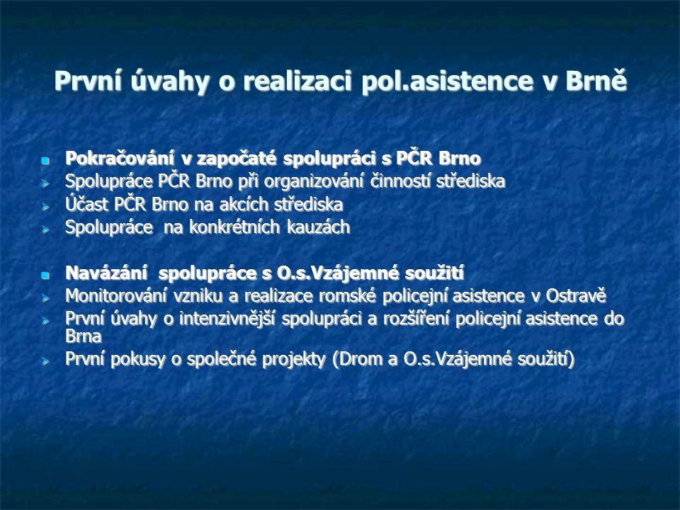 První úvahy o realizaci pol.asistence v Brně