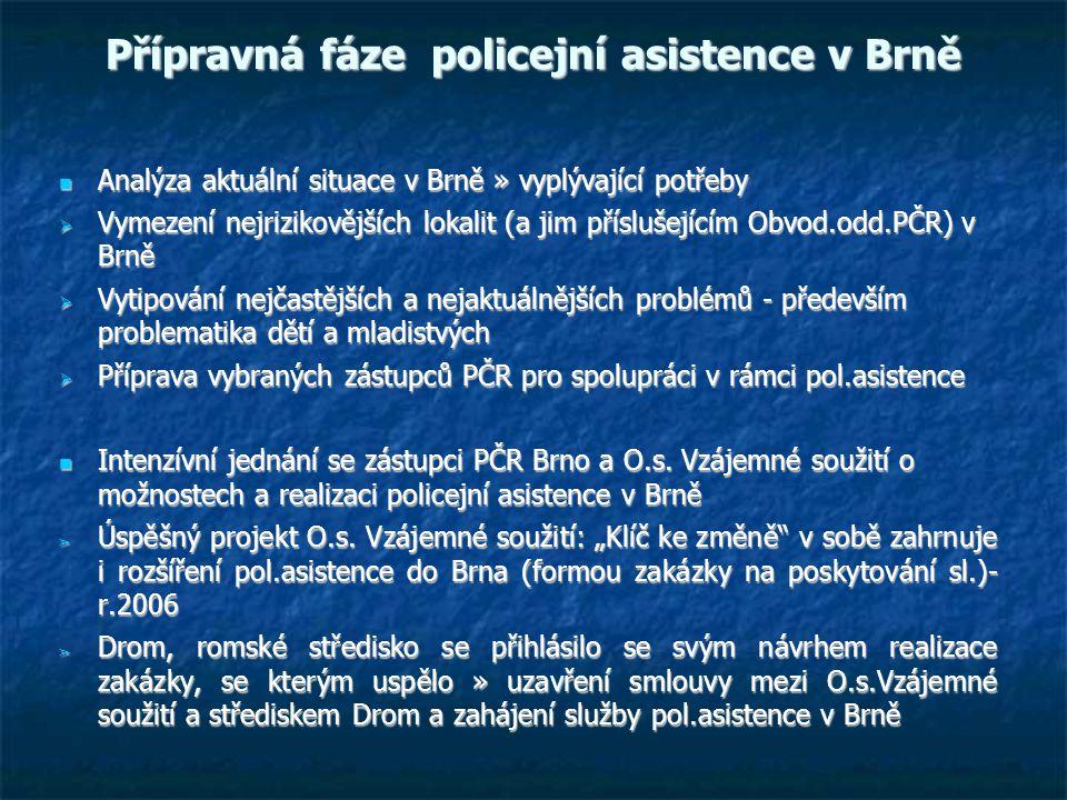 Přípravná fáze policejní asistence v Brně