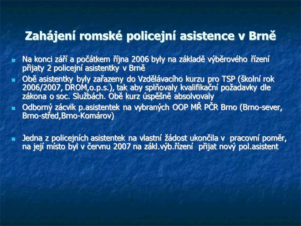 Zahájení romské policejní asistence v Brně