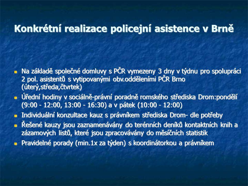 Konkrétní realizace policejní asistence v Brně