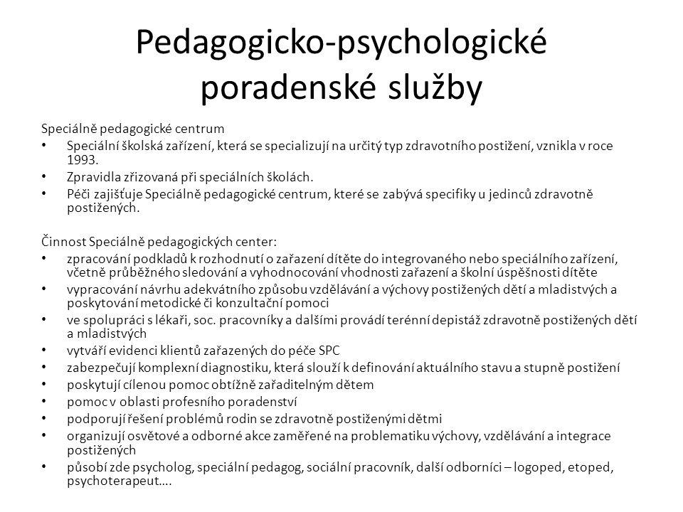 Pedagogicko-psychologické poradenské služby