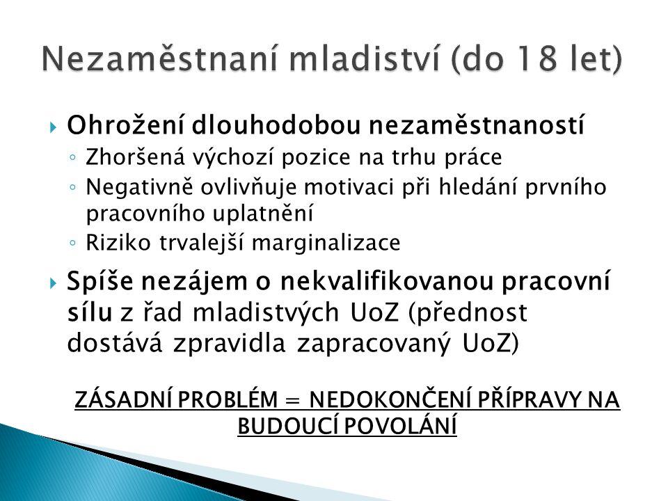 Nezaměstnaní mladiství (do 18 let)