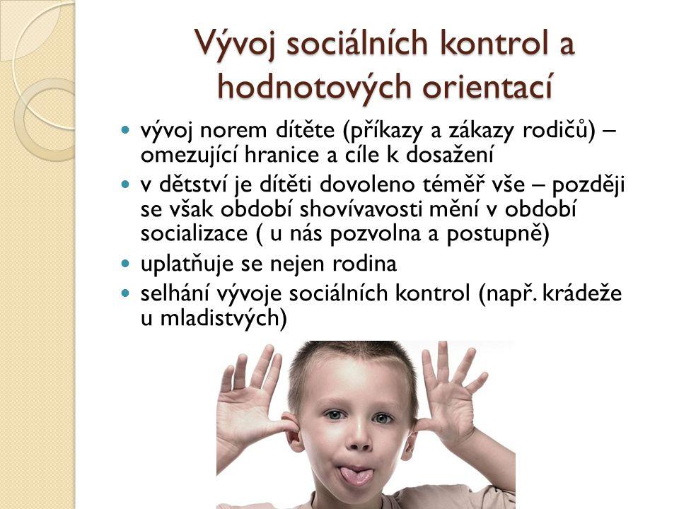 Vývoj sociálních kontrol a hodnotových orientací
