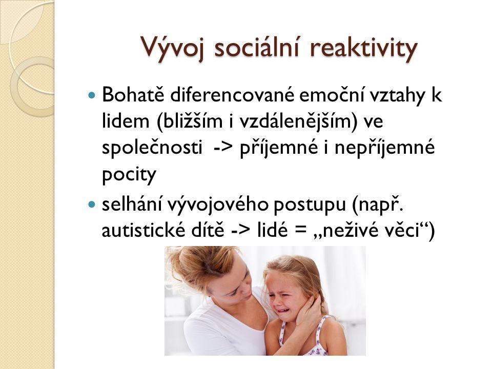 Vývoj sociální reaktivity