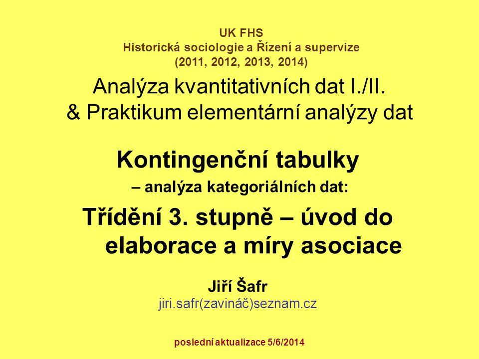 Analýza kvantitativních dat I./II. & Praktikum elementární analýzy dat