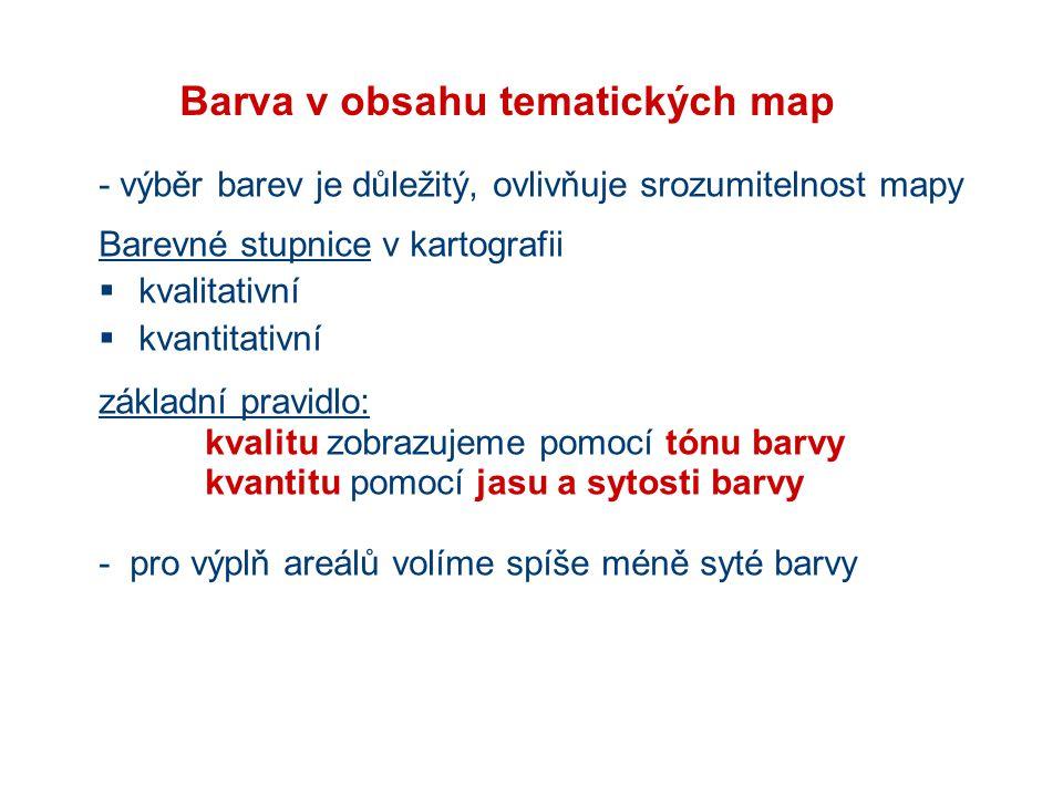 Barva v obsahu tematických map