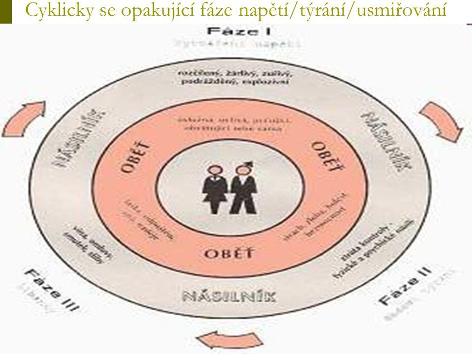 Cyklicky se opakující fáze napětí/týrání/usmiřování