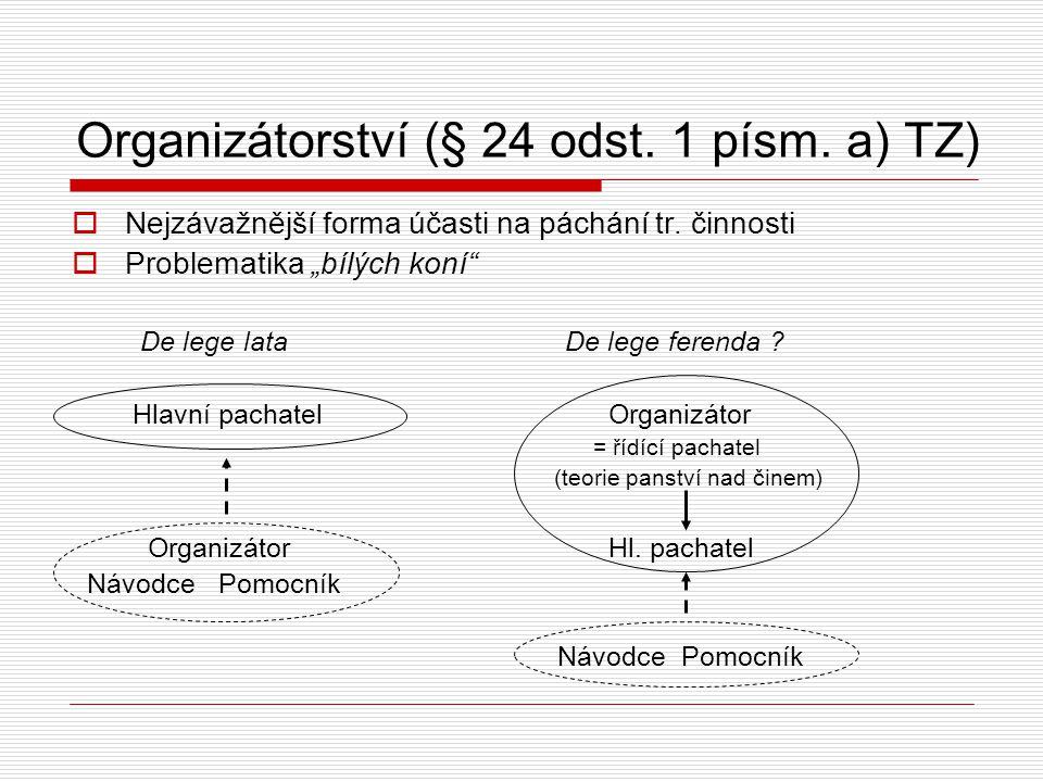 Organizátorství (§ 24 odst. 1 písm. a) TZ)