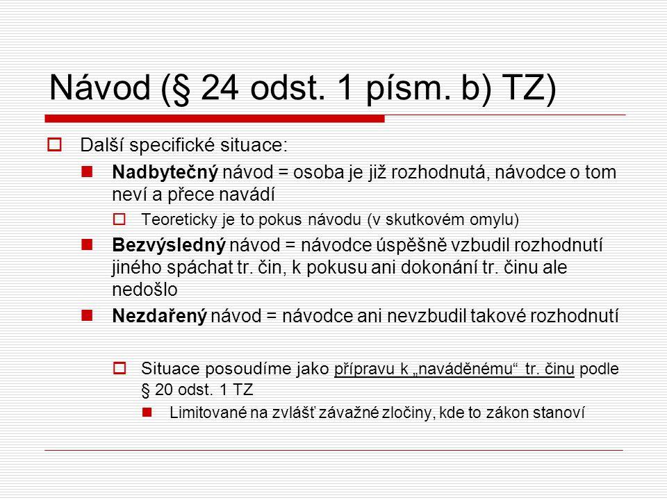 Návod (§ 24 odst. 1 písm. b) TZ)