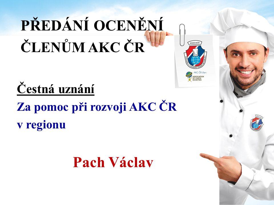 PŘEDÁNÍ OCENĚNÍ ČLENŮM AKC ČR Pach Václav Čestná uznání
