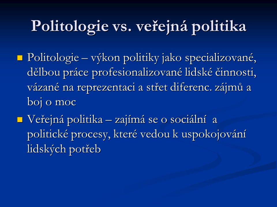 Politologie vs. veřejná politika
