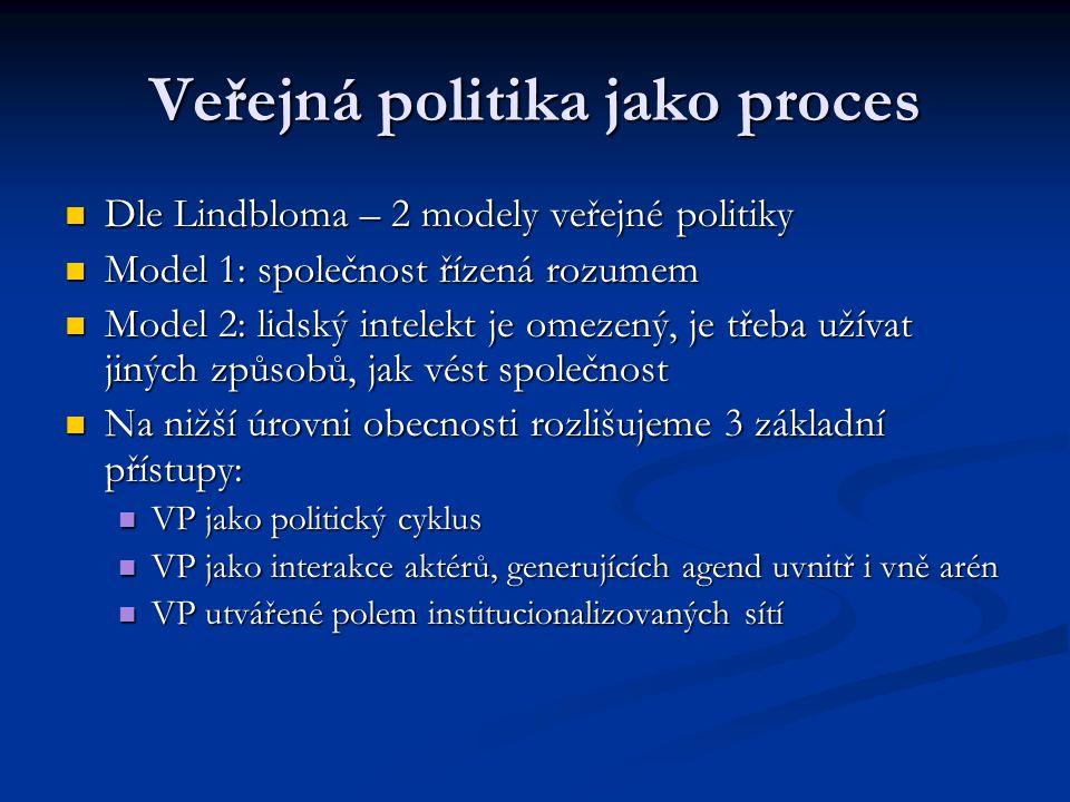 Veřejná politika jako proces