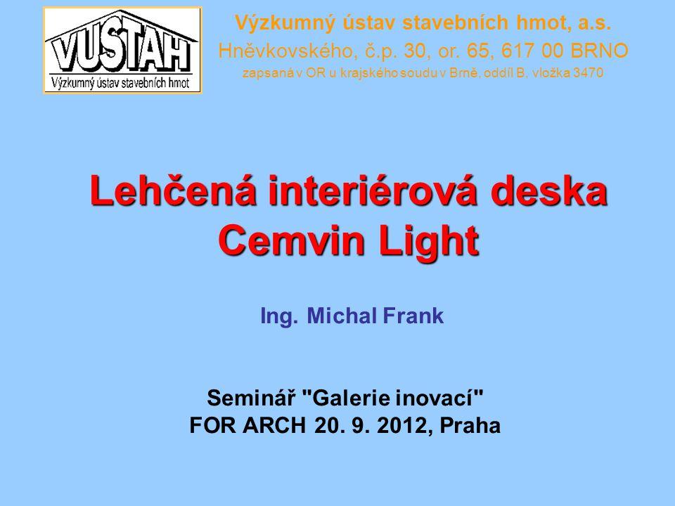 Lehčená interiérová deska Cemvin Light