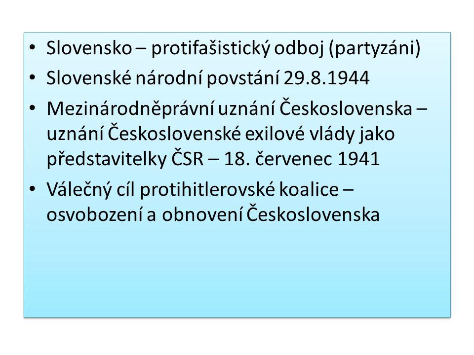 Slovensko – protifašistický odboj (partyzáni)