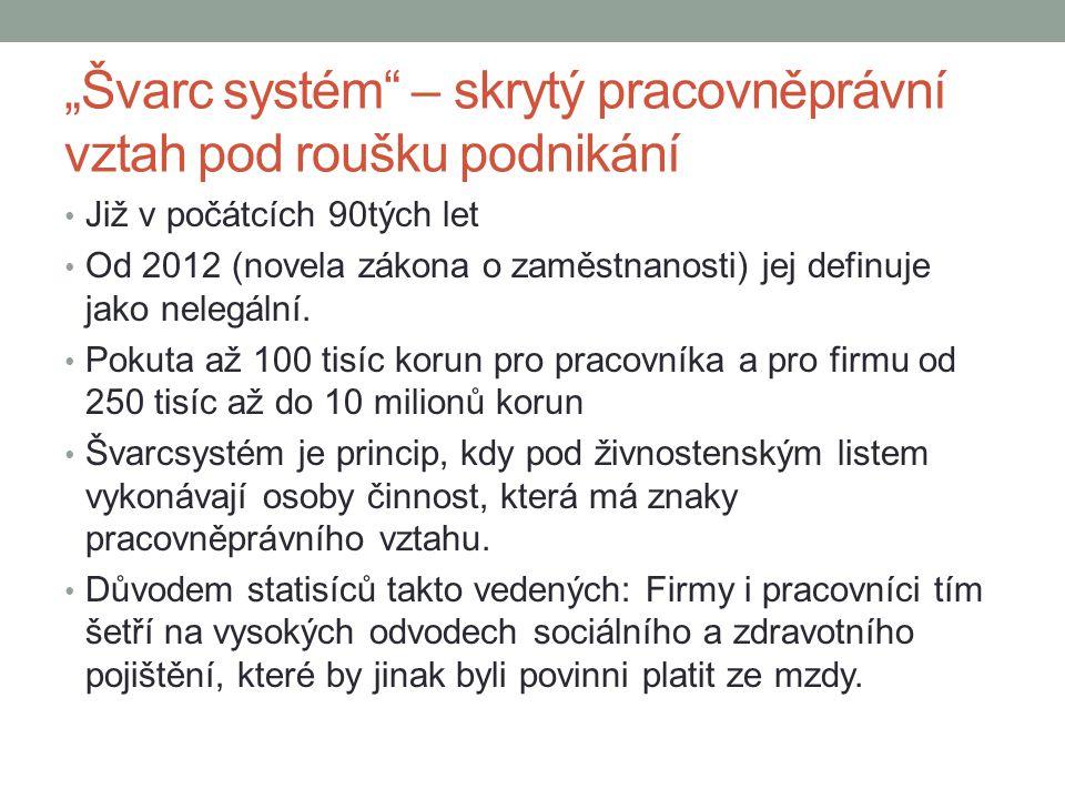 """""""Švarc systém – skrytý pracovněprávní vztah pod roušku podnikání"""