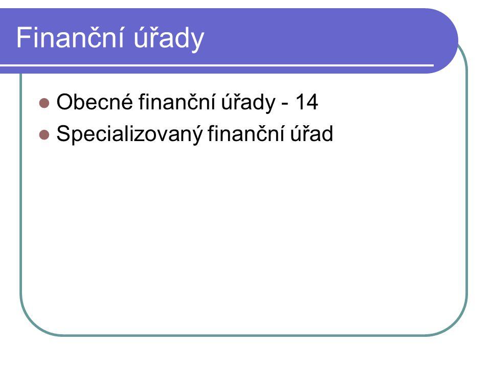 Finanční úřady Obecné finanční úřady - 14 Specializovaný finanční úřad