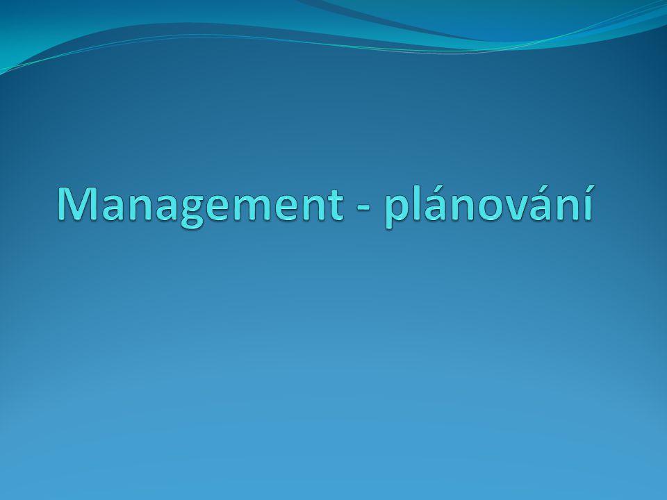 Management - plánování